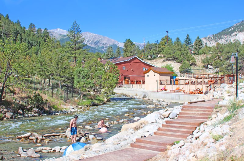 Hot Springs in Chalk Creek at Mt  Princeton Hot Springs Resort