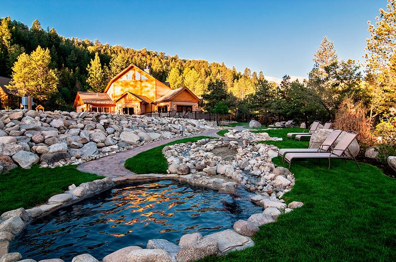 Cascading Hot Springs At Mt Princeton Hot Springs Resort