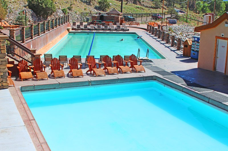 Hot Swimming Pool : The soaking pool at mount princeton hot springs resort