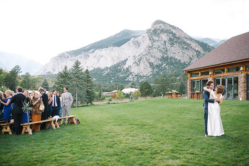 colorado rocky mountain wedding