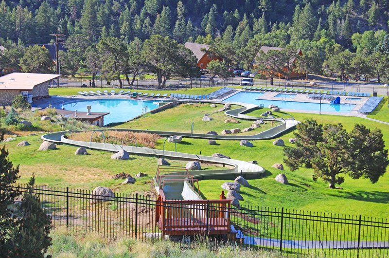 The Upper Pools Amp Water Slide At Mt Princeton Hot Springs