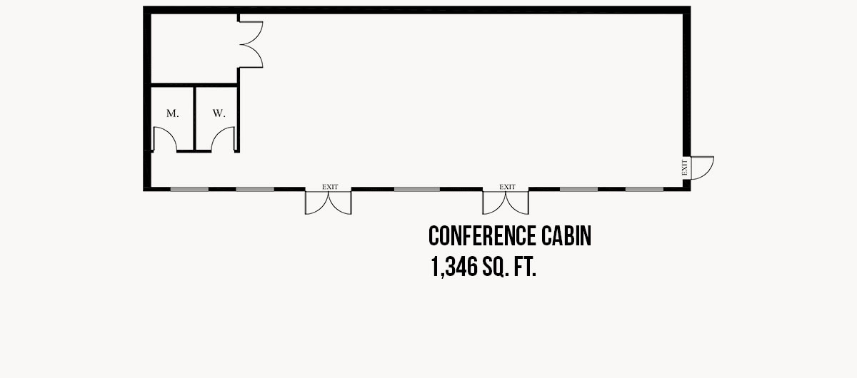 Conference Cabin Floor Plan