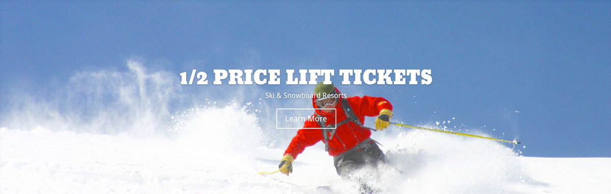 1/2 Price Lift Tickets