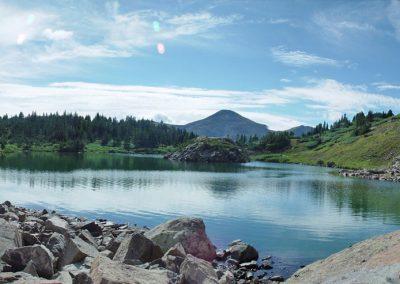 HIGH ALTITUDE LAKE FISHING.