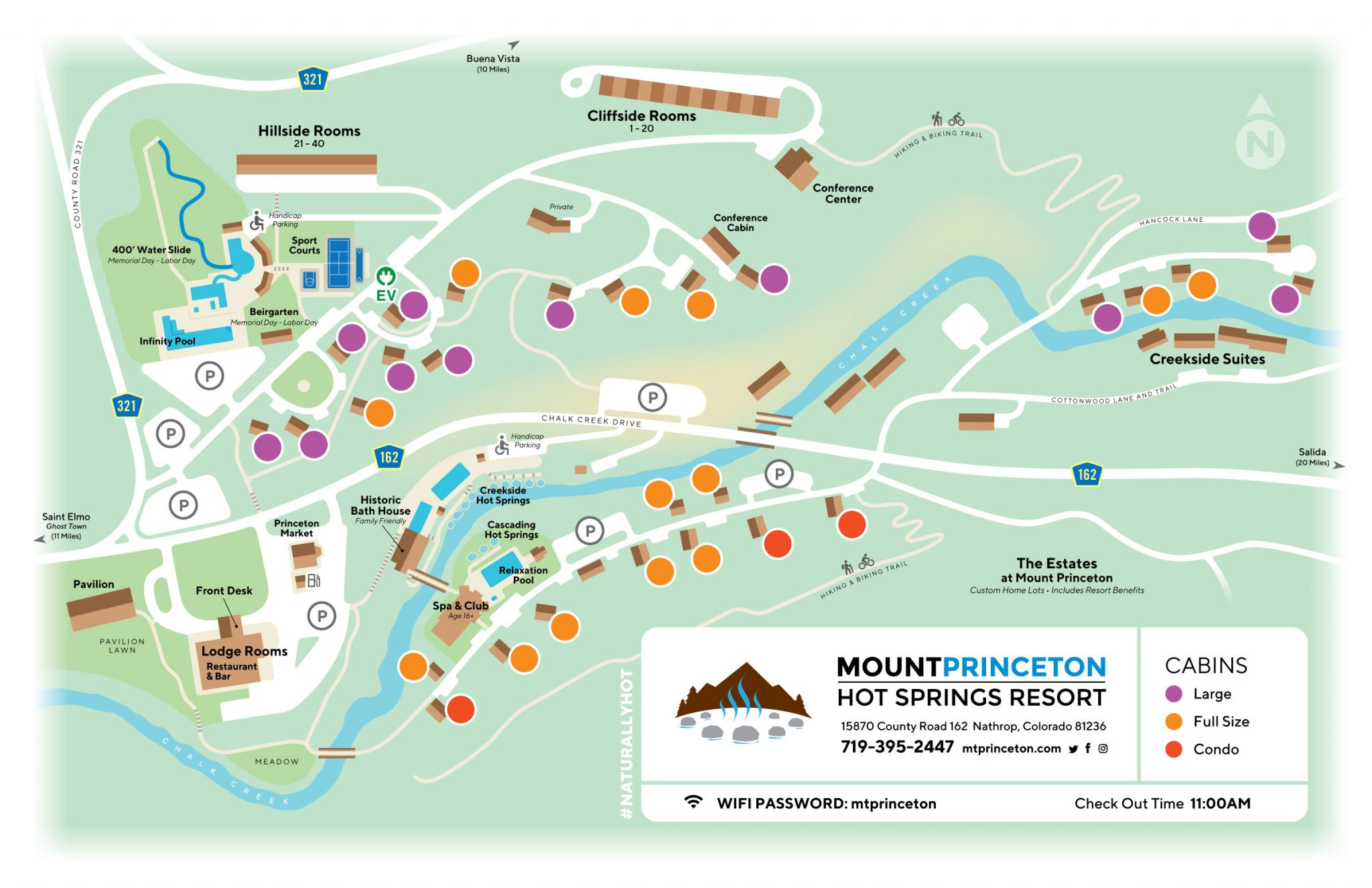 Mount Princeton Hot Springs Resort Map