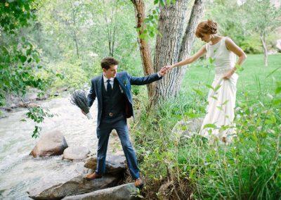 river-wedding-bride-groom-colorado