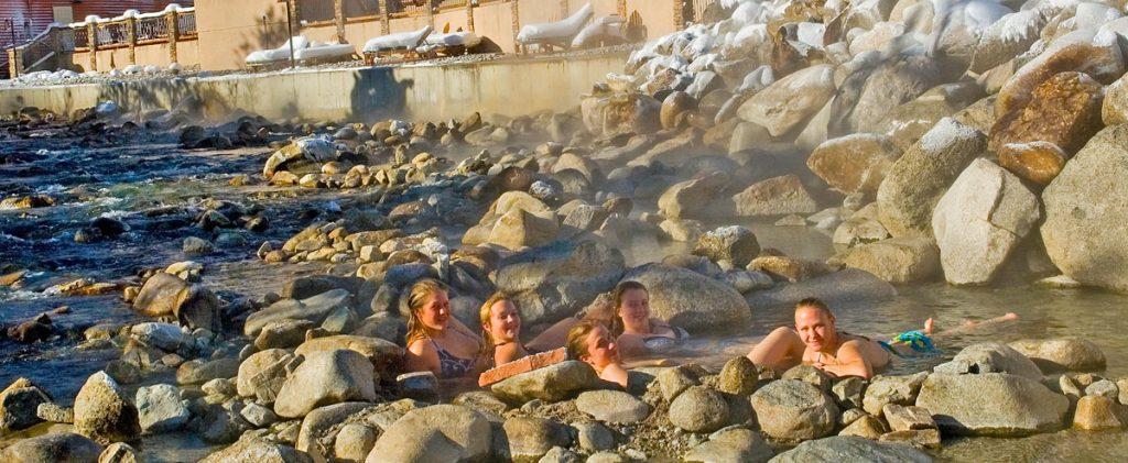 Colorado Hot Springs In Winter